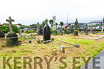 The clean up in Rath Graveyard on Tuesday.