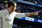 Real Madrid's player Gareth Bale celebrating a goal during a match of La Liga at Santiago Bernabeu Stadium in Madrid. November 06, Spain. 2016. (ALTERPHOTOS/BorjaB.Hojas)
