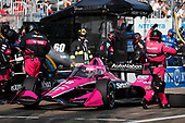 #60 Jack Harvey, Meyer Shank Racing Honda, pit stop