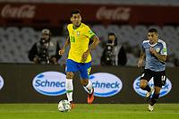 17th November 2020; Centenario Stadium, Montevideo, Uruguay; Fifa World Cup 2022 Qualifying football; Uruguay versus Brazil; Lucas Torreira of Uruguay gives chase to the break by Roberto Firmino of Brazil