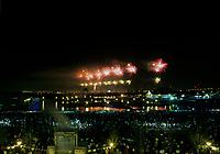 FILE PHOTO -  le feux d'artifice inaugural du 350ieme anniversaire de Montreal, le 14 mai 1992.<br /> <br /> <br /> PHOTO : Pierre Roussel<br />  - Agence Quebec Presse
