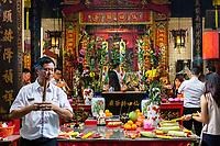 Sin Sze Si Ya Taoist Temple, Chinatown, Kuala Lumpur, Malaysia.  Oldest Taoist temple in Kuala Lumpur (1864).