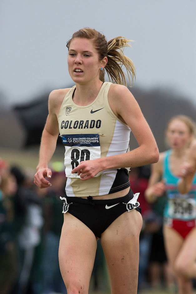 Colorado's Erin Clark (80) runs down a competitor during the NCAA Cross Country Championships in Terre Haute, Ind. on Saturday, Nov. 22, 2014. (James Brosher, Special to the Denver Post)