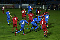 General view of the action during Redbridge vs Ilford, Essex Senior League Football at Oakside Stadium on 15th October 2021