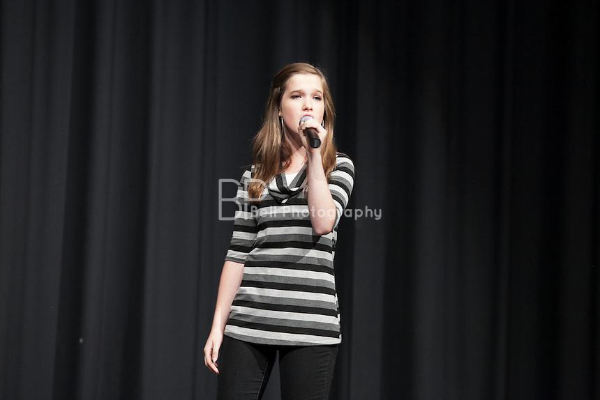 Jaclyn Frazier performing at the Nebraska's Got Talent, Burke High School, Omaha, NE