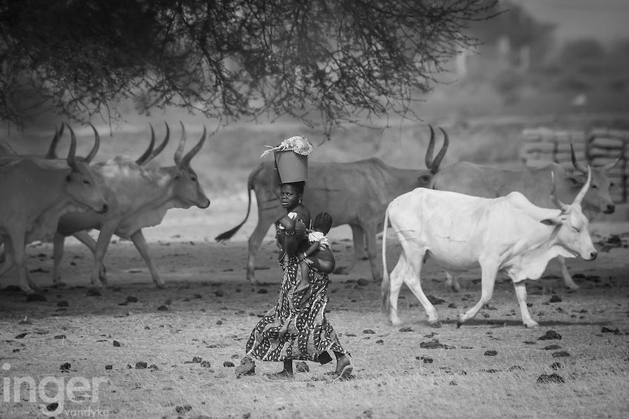 Fulani village girl near Podor, northern Senegal