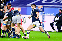26th March 2021, Stade de France, Saint-Denis, France; Guinness 6-Nations international rugby, France versus Scotland;  Ali Price (Sco) clears with a box kick