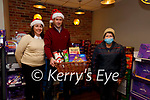 It could be you, Devlins Centra in Cahersiveen is giving a Christmas Hamper to one luck shopper ever week leading into Christmas, pictured here l-r; Cathleen & Vincent Devlin with Eileen Musgrave.