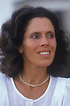 Debbie Owen wife of David Owen, Politician 1980s England. Eats London UK