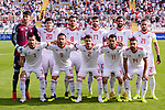 Players of Islamic Republic of Iran line up and pose for photos prior to the AFC Asian Cup UAE 2019 Group D match between Vietnam (VIE) and I.R. Iran (IRN) at Al Nahyan Stadium on 12 January 2019 in Abu Dhabi, United Arab Emirates. Photo by Marcio Rodrigo Machado / Power Sport Images