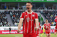 Sandro Wagner 1:1    celebration   1:1 Ausgleich<br /> / Football: Germany, 1. Bundesliga  /  2017/2018 / 17.02.2018 / VfL Wolfsburg WOB vs. FC Bayern Muenchen FCB 180217094 /  *** Local Caption *** © pixathlon<br /> Contact: +49-40-22 63 02 60 , info@pixathlon.de