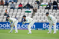 BJ Watling and the New Zealand slip cordon during India vs New Zealand, ICC World Test Championship Final Cricket at The Hampshire Bowl on 19th June 2021