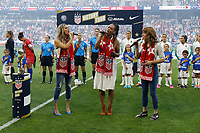 Saint Paul, MN - Tuesday September 03, 2019 : National anthem singers prior to the USWNT 2019 Victory Tour match versus Portugal at Allianz Field, on September 03, 2019 in Saint Paul, Minnesota.