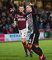 Pars' Ryan Wallace celebrates after he scores their second goal from the penalty spot.