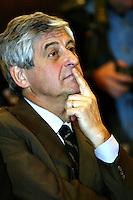 Roma 8/4/2004 Campidoglio - sala della Protomoteca. <br /> Liberta dietro le sbarre - presentazione del libro.<br /> Gianni Rivera <br /> Foto Andrea Staccioli Insidefoto