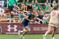 NEWTON, MA - MAY 22: Kelly Donnelly #2 of Notre Dame on the attack during NCAA Division I Women's Lacrosse Tournament quarterfinal round game between Notre Dame and Boston College at Newton Campus Lacrosse Field on May 22, 2021 in Newton, Massachusetts.