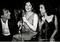 Rubell Minelli Jagger6878.JPG<br /> New York, NY 1978 FILE PHOTO<br /> Steve Rubell Liza Minelli Bianca Jagger<br /> Studio 54<br /> Digital photo by Adam Scull-PHOTOlink.net<br /> ONE TIME REPRODUCTION RIGHTS ONLY<br /> NO WEBSITE USE WITHOUT AGREEMENT<br /> 718-487-4334-OFFICE  718-374-3733-FAX