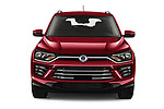 Car photography straight front view of a 2020 Ssangyong Korando Onyx 5 Door SUV Front View