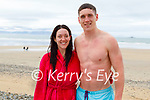 Enjoying a swim in Banna beach on Monday, l to r: Katie and Joseph O'Connor.