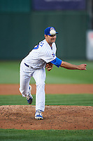 South Bend Cubs pitcher Jake Stinnett (37) delivers a pitch during a game against the Cedar Rapids Kernels on June 5, 2015 at Four Winds Field in South Bend, Indiana.  South Bend defeated Cedar Rapids 9-4.  (Mike Janes/Four Seam Images)