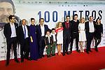"Dani Rovira, Marel Barrena, Alexandra jimenez, Karra Elejalde during the premier of the film ""100 METROS"" at Capitol Cinema in Madrid, Spain. November 02, 2016. (ALTERPHOTOS/Rodrigo Jimenez)"