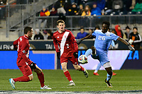 Chester, PA - Friday December 08, 2017: Jelani Pieters during an NCAA Men's College Cup semifinal soccer match between the North Carolina Tar Heels and the Indiana Hoosiers at Talen Energy Stadium.