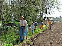 Kräuter im Frühjahr sammeln für Kräutersuppe und Wildgemüse - Salat, Wildkräuter, Familie, Kräutersammeln