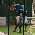 13/12/03          Copyright Pic : James Stewart.File Name : stewart007-ayr v st john.PETER MACDONALD CONGRATULATES PAUL BERNARD (4) AFTER HE SCORED THE FIRST....Payment should be made to :-.James Stewart Photo Agency, 19 Carronlea Drive, Falkirk. FK2 8DN      Vat Reg No. 607 6932 25.Office     : +44 (0)1324 570906     .Mobile  : +44 (0)7721 416997.Fax         :  +44 (0)1324 570906.E-mail  :  jim@jspa.co.uk.If you require further information then contact Jim Stewart on any of the numbers above.........