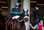 July 18, 2020: Scenes from the paddock on Haskell Invitational Day at Monmouth Park Racecourse in Oceanport, New Jersey. Charles Toler/Eclipse Sportswire/CSM