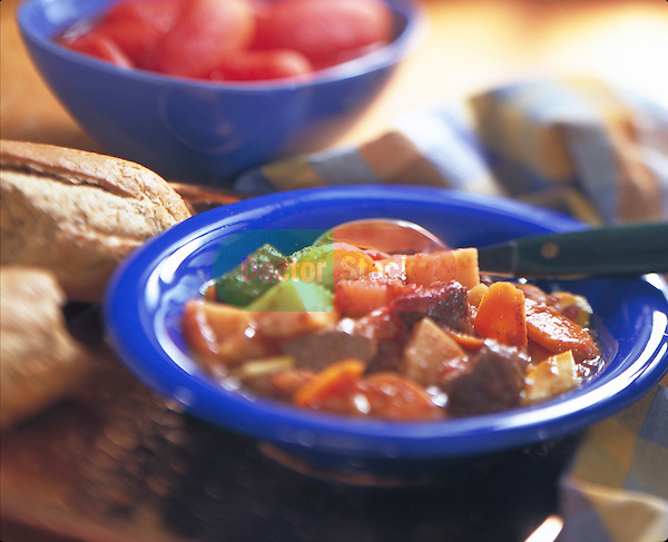 bowl of lower fat beef stew