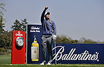 JEJU, SOUTH KOREA - APRIL 24:  Anthony Kim of USA cheks the wind direction on the 17th tee during the Round Two of the Ballantine's Championship at Pinx Golf Club on April 24, 2010 in Jeju island, South Korea.  Photo by Victor Fraile / The Power of Sport Images