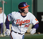 Catcher Garrett Boulware (30) of the Clemson Tigers in a game against the Wofford Terriers on Wednesday, March 6, 2013, at Doug Kingsmore Stadium in Clemson, South Carolina. Clemson won, 9-2. (Tom Priddy/Four Seam Images)