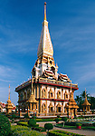 Thailand, Phuket, Wat Chalong: most popular Buddhist temple on Phuket island