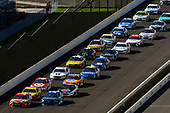 Monster Energy NASCAR Cup Series<br /> Brickyard 400<br /> Indianapolis Motor Speedway, Indianapolis, IN USA<br /> Sunday 23 July 2017<br /> Kyle Busch, Joe Gibbs Racing, Skittles Toyota Camry and Martin Truex Jr, Furniture Row Racing, Auto-Owners Insurance Toyota Camry<br /> World Copyright: Nigel Kinrade<br /> LAT Images