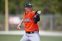 Miami Marlins pitcher Remey Reed (58) during a Minor League Spring Training game against the St. Louis Cardinals on March 26, 2018 at the Roger Dean Stadium Complex in Jupiter, Florida.  (Mike Janes/Four Seam Images)