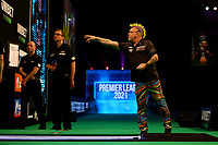 26th May 2021; Marshall Arena, Milton Keynes, Buckinghamshire, England; Professional Darts Corporation, Unibet Premier League Night 15 Milton Keynes; Peter Wright in action against Jonny Clayton
