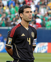 Mexico's Rafael Marquez listens to the Mexican National Anthem.  Mexico defeated Costa Rica 4-1 at the 2011 CONCACAF Gold Cup at Soldier Field in Chicago, IL on June 12, 2011.