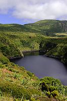 Caldeira Comprida = Lagoa Comprida auf der Insel Flores, Azoren, Portugal
