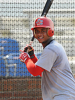 August 1, 2009: Catcher Audry Perez (5) of the Johnson City Cardinals, rookie Appalachian League affiliate of the St. Louis Cardinals, in a game at Howard Johnson Field in Johnson City, Tenn. Photo by: Tom Priddy/Four Seam