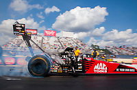 Sep 26, 2020; Gainesville, Florida, USA; NHRA top fuel driver Doug Kalitta during qualifying for the Gatornationals at Gainesville Raceway. Mandatory Credit: Mark J. Rebilas-USA TODAY Sports