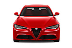 Car photography straight front view of a 2019 Alfaromeo Giulia - 4 Door Sedan Front View