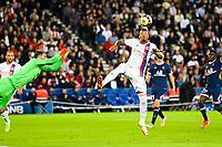 19th September 2021: Le Parc des Princes, Paris, France; French League 1 football Paris Saint Germain versus Olympique Lyonnais:   Jerome Boateng OL and Gianluigi Donnarumma PSG
