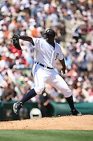 March 21st 2008:  Dontrelle Willis of the Detroit Tigers during Spring Training at Joker Marchant Stadium in Lakeland, FL.  Photo by:  Mike Janes/Four Seam Images