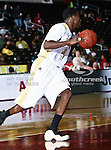 Alabama State Hornets guard Jeffery Middlebrooks (4) in action during the SWAC Tournament game between the Alabama State Hornets and the  Alabama A&M Bulldogs at the Special Events Center in Garland, Texas. Alabama State Hornets defeat Alabama A&M Bulldogs 81 to 61