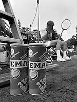1984, Hilversum, Dutch Open, Melkhuisje, Er wordt voor het eerst getenist met Hema ballen