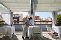 Spain - Barcelona - The rooftop restaurant of the Hotel Claris, one of the few five star hotels who have decided to re-open right after the end of the quarantine.