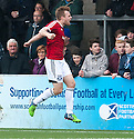 Ayr Utd's Jordan Preston celebrates after he scores their second goal.