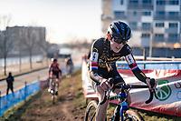 eventual race winner Lucinda Brand (NED/Telenet-Baloise Lions)<br /> <br /> 2020 Urban Cross Kortrijk (BEL)<br /> women's race<br /> <br /> ©kramon