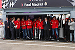 Real Madrid players participate and receive new Audi during the presentation of Real Madrid's new cars made by Audi at the Jarama racetrack on November 8, 2012 in Madrid, Spain.(ALTERPHOTOS/Harry S. Stamper)