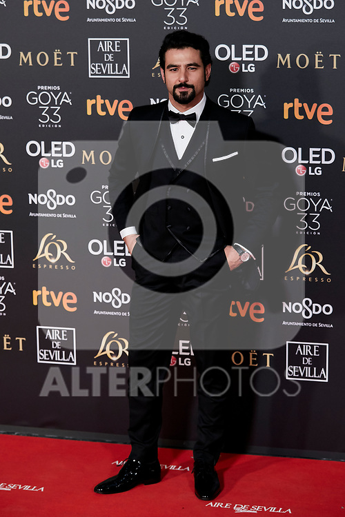 Antonio Velazquez attends to 33rd Goya Awards at Fibes - Conference and Exhibition  in Seville, Spain. February 02, 2019. (ALTERPHOTOS/A. Perez Meca)